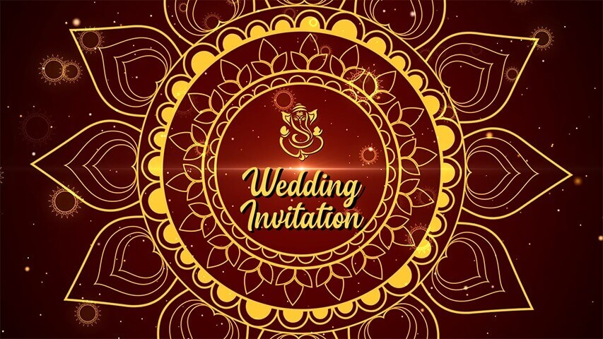 Chakra Gold Video Invitation