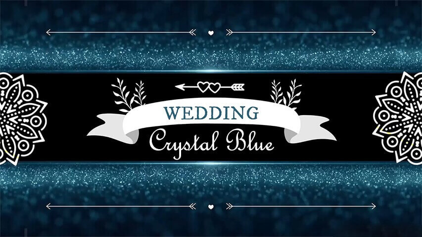 Crystal Blue Video Invitation