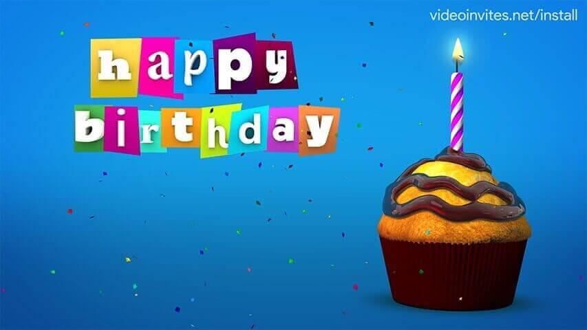 Cupcake Video Invitation