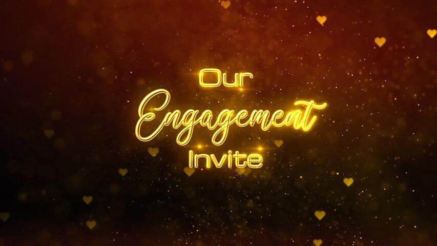 Golden Hearts Video Invitation