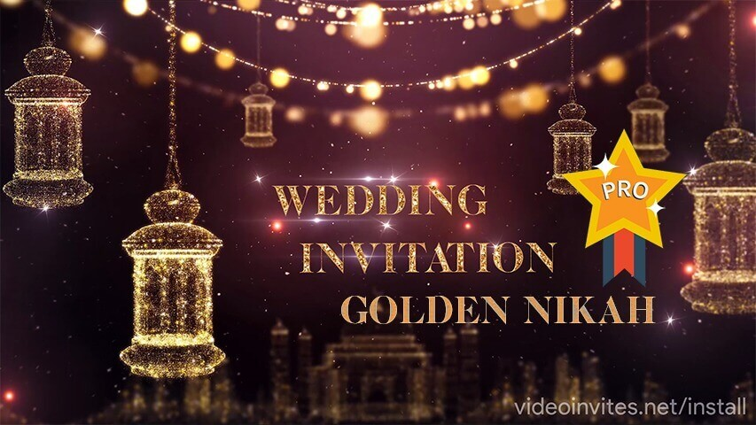 Golden Nikah Pro Video Invitation