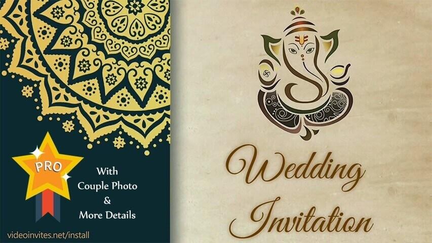 Jai Ganesha Pro Wedding Invitation Video