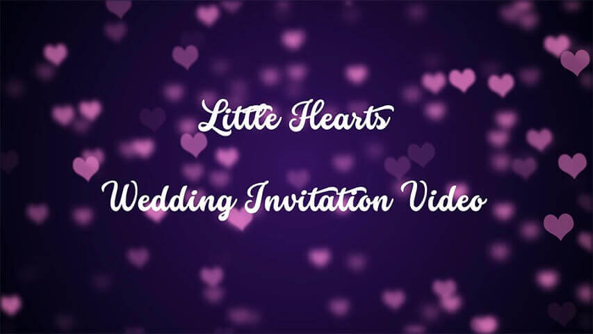 Little Hearts Video Invitation