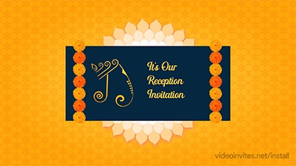 Marigold Reception Invitation Video