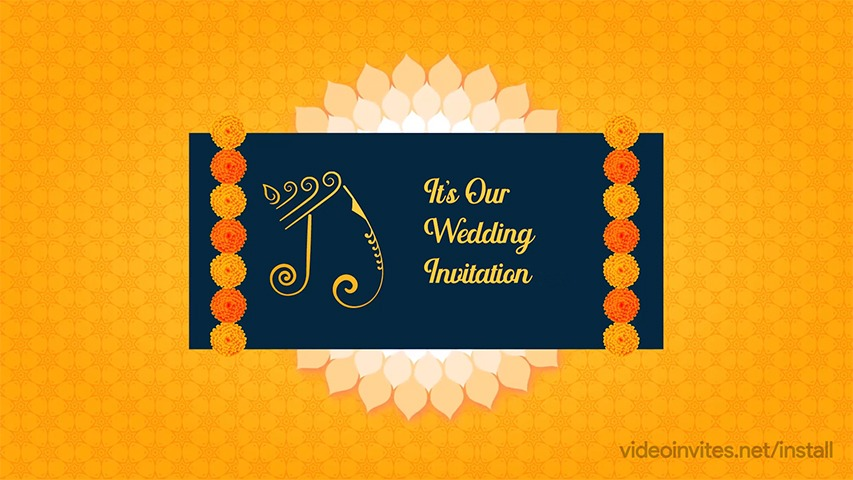 Marigold Video Invitation