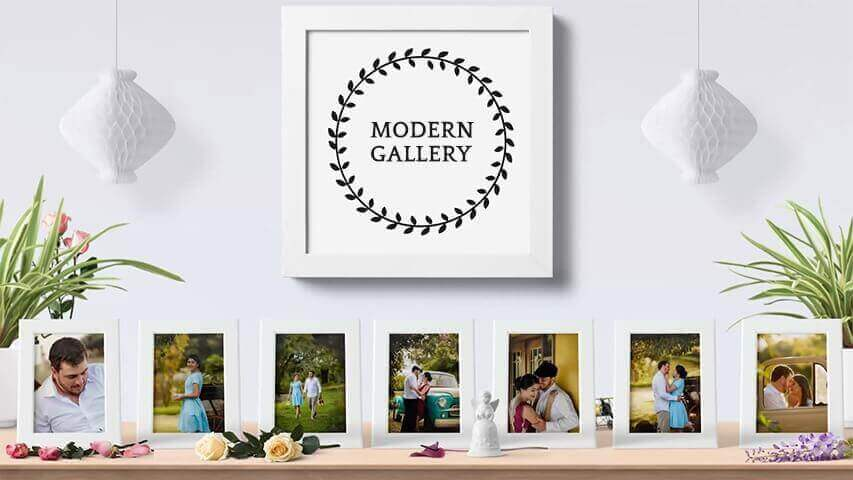 Modern Gallery Video Invitation