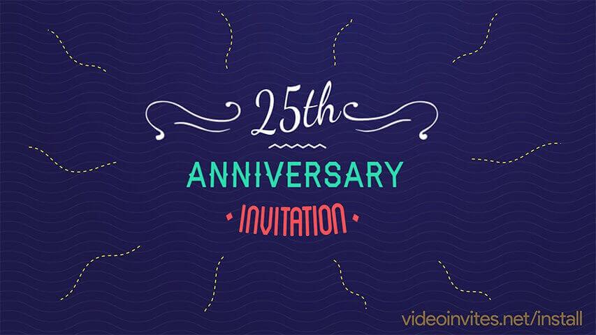 Pop Colors Video Invitation