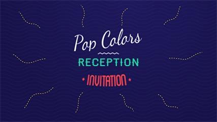 Pop Colors Reception Invitation Video