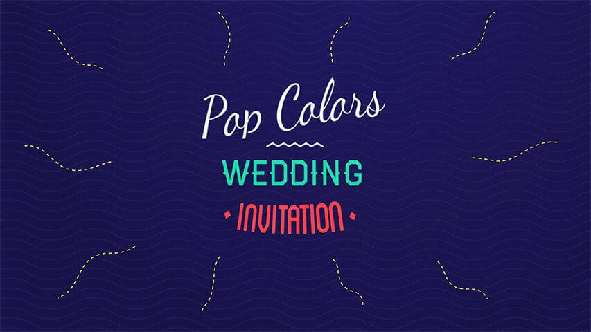 Pop Colors Video Invitation