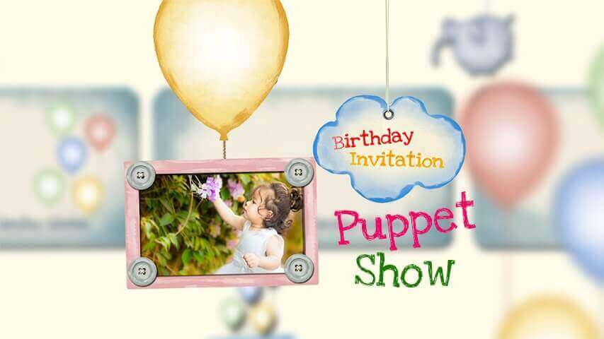 Puppet Show Video Invitation