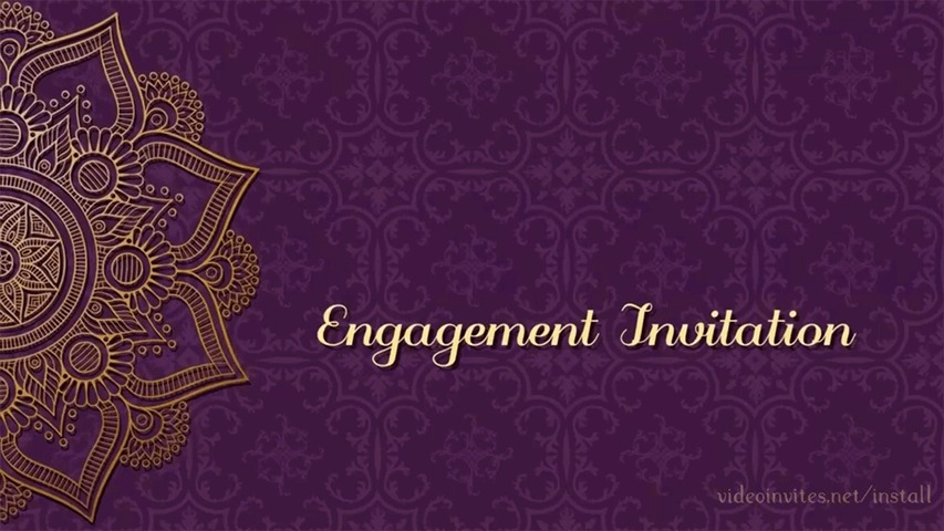 Rangoli Video Invitation