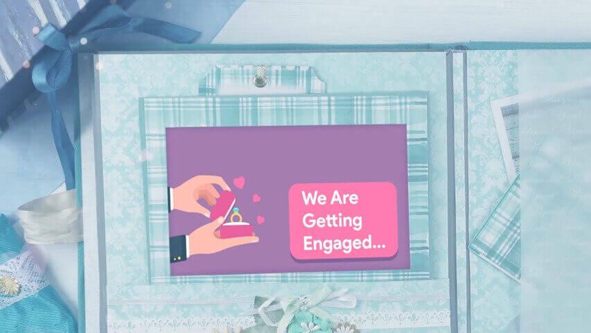 Scrapbook Engagement Invitation Video