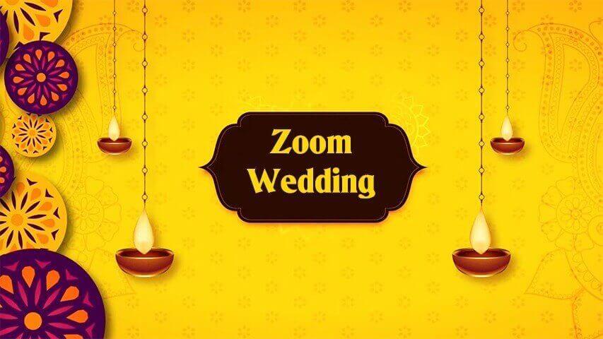 Zoom Wedding Video Invitation