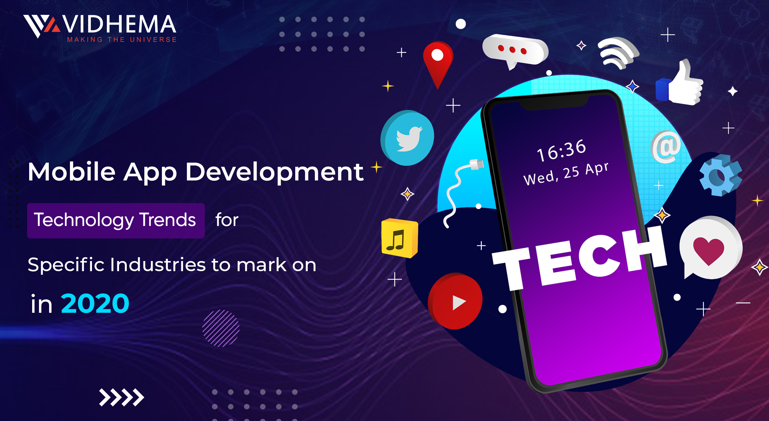 Mobile App Development Technology Trends For Specific Industries To Mark On In 2020