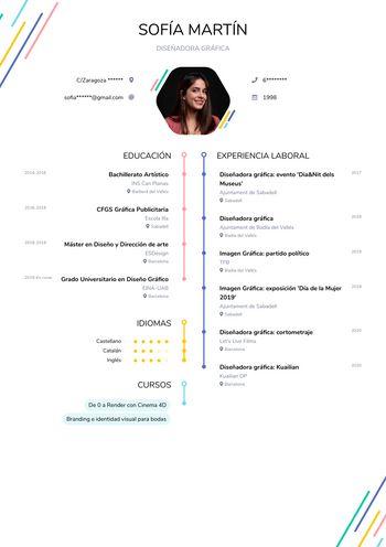 Currículum Diseñadora gráfica