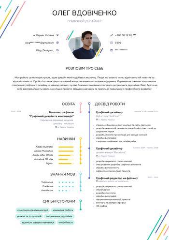 Резюме Графічний дизайнер