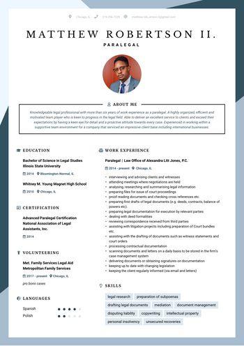 Resume Paralegal
