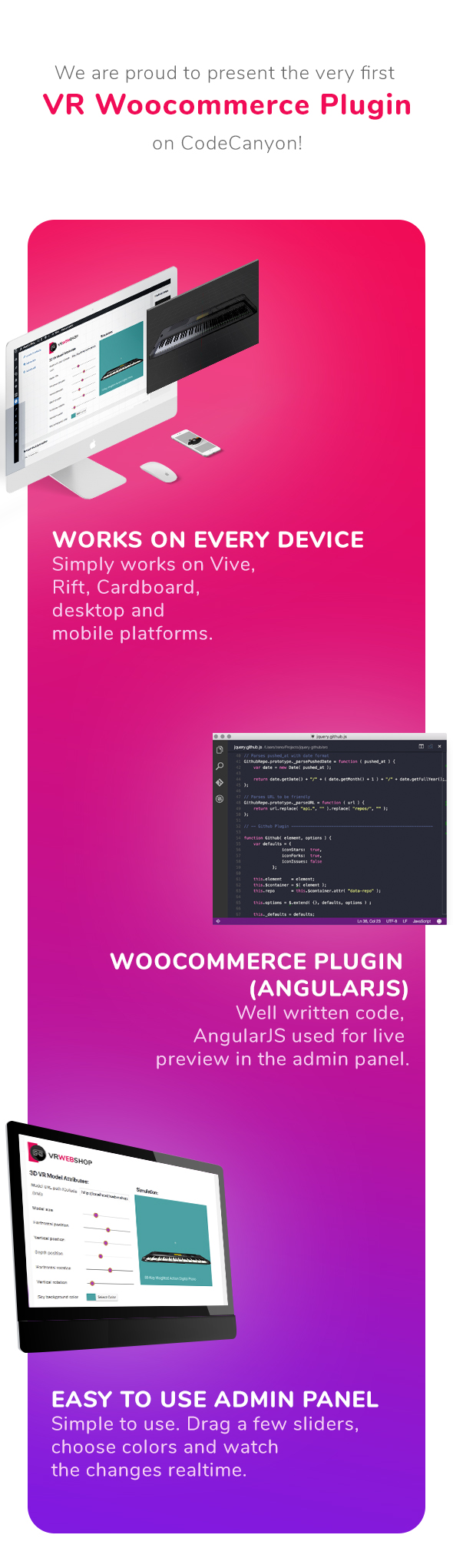 Add 3D models to any Woocommerce shop - Web Virtual Reality 4