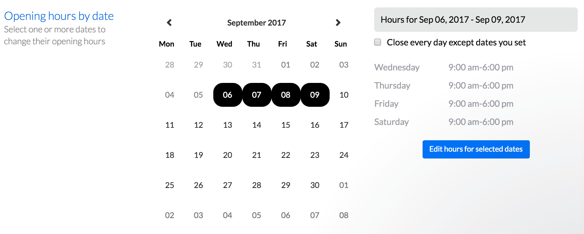 detailed hours