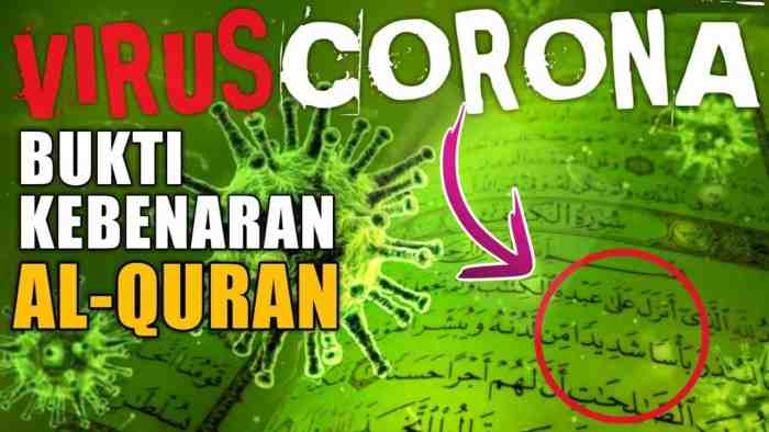 Bukti Terjadinya Virus Corona Sudah Tertulis di Al-Quran dan Hadist Rasulullah