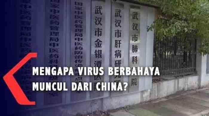 Alasan Kenapa Sejumlah Virus Berbahaya Berasal dari China