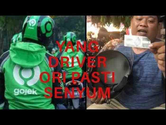Ngeri, Driver Ojol Satu ini Pasang Benda Anti Mainstream di Helmya