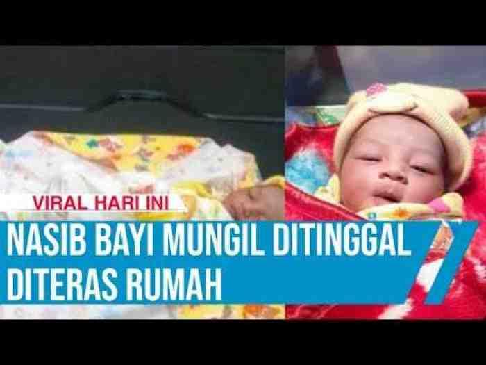 Nasib Malang Bayi Mungil Menggemaskan Ditemukan Warga di Depan Teras Rumah