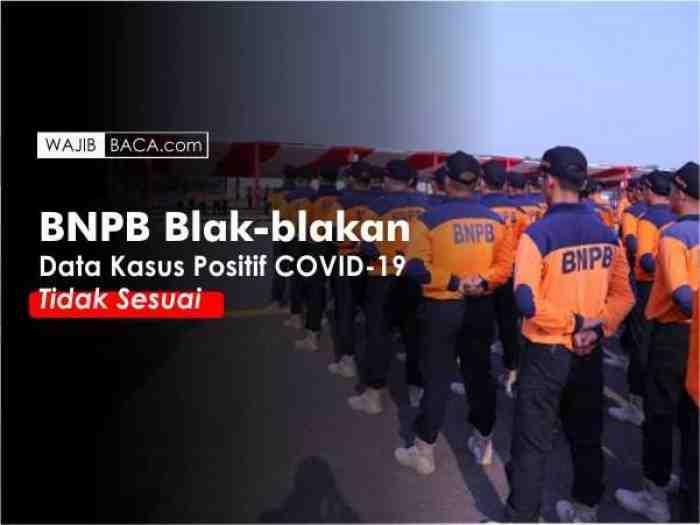 BNPB Blak-blakan Data Kasus Positif Corona di Indonesia Tidak Sesuai