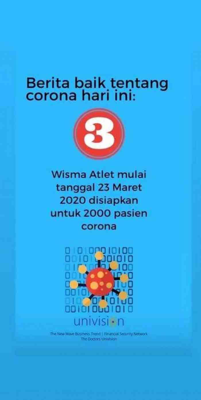 Kabar Baik, Badai Corona Pasti Berlalu, Jangan Panik!!!