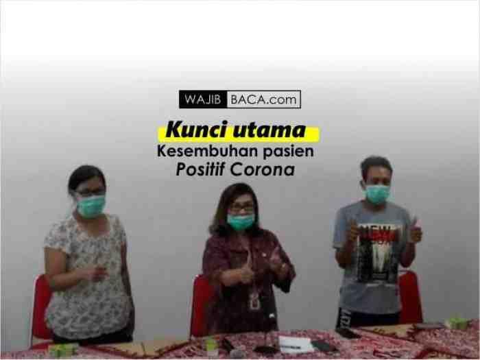 Cerita 4 Pasien Positif Corona di Semarang, Bocorkan Kunci Kesembuhannya