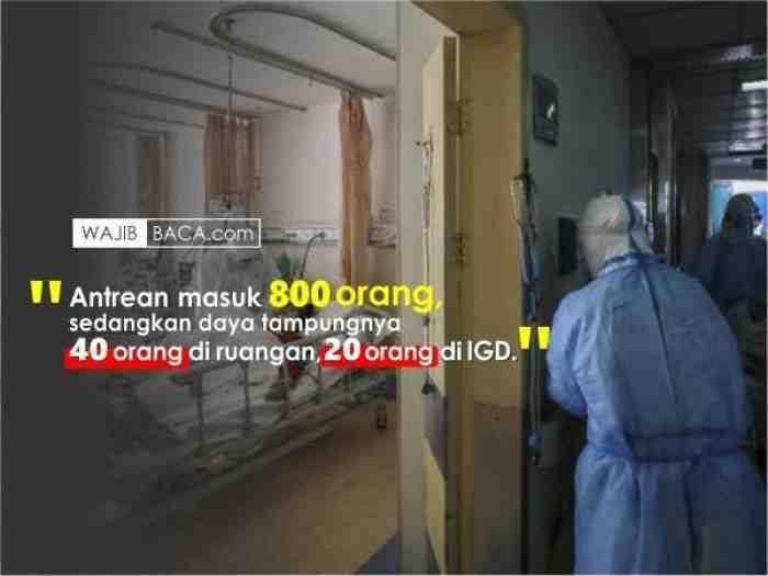 Ini Alasan Rumah Sakit Rujukan Tolak Pasien Covid-19