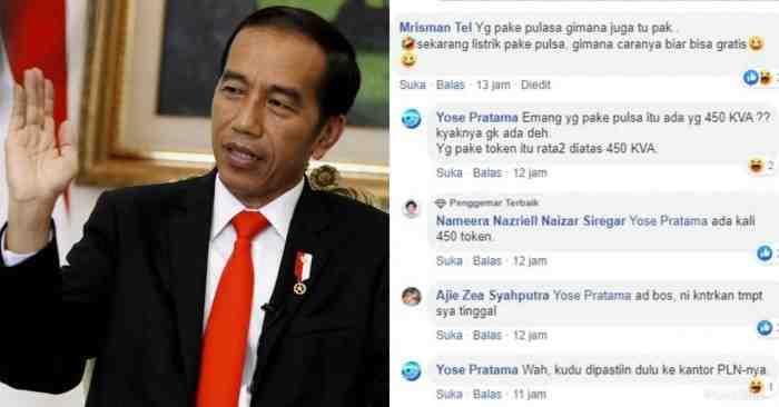 Jokowi Gratiskan Listrik, Pengguna Listrik Token Tanya Tagihannya