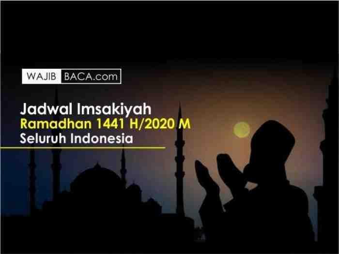 Simak, ini Jadwal Imsakiyah Ramadhan 1441 H di Seluruh Indonesia