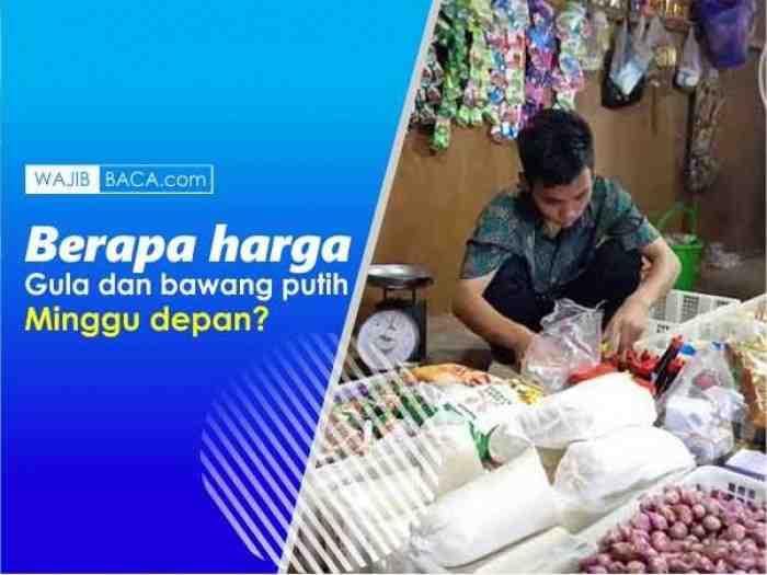 Ibu-ibu Tak Usah Khawatir, Jokowi Janji Harga Gula dan Bawang Putih Turun
