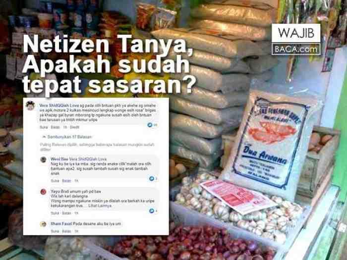 Jokowi Bantu Sembako 200 Ribu Selama 9 Bulan