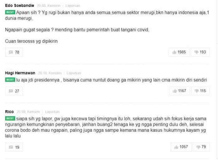 Dinilai Sembrono Tangani Corona, Rakyat Gugat Presiden Jokowi ke Pengadilan