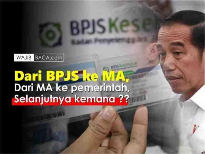 Bagaimana Kenaikan Iuran BPJS yang Telanjur Dibayarkan? ini Kata MA