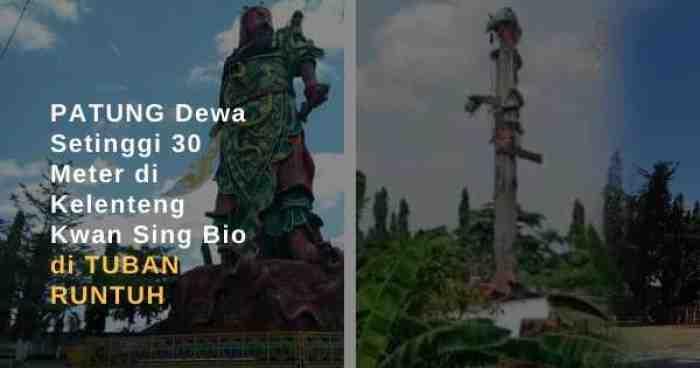 Patung Dewa 30 Meter di Tuban Runtuh