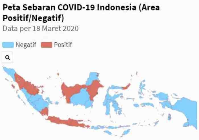 Merata, Korona Masuki Hampir Semua Pulau Besar di Indonesia