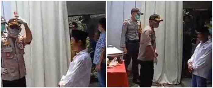 Viral, Detik-detik Polisi Marah Bubarkan Arisan Warga Ditengah Wabah Corona