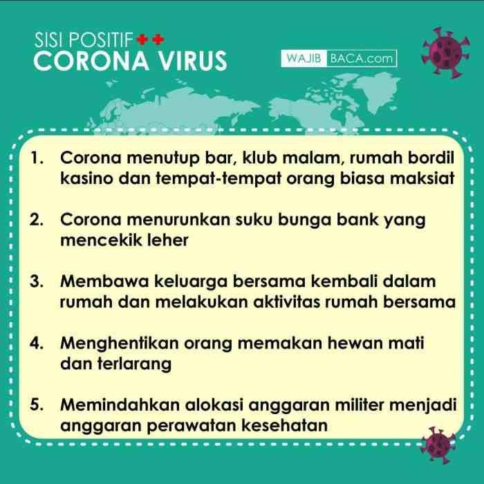Sisi Positif Virus Corona yang Harus Kita Syukuri