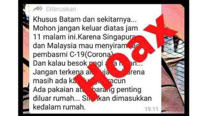 Hoax? Malaysia dan Singapura Semprotkan Racun dari Udara untuk Basmi Corona