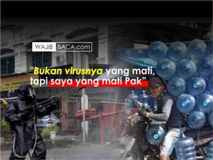Viral Curhatan Tukang Galon, Resign Kerja Gara-Gara Disemprot Desinfektan 32x Sehari