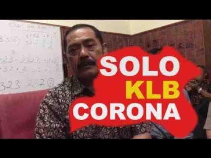 Solo Nyatakan KLB Corona, Sekolah dan Tempat Wisata Ditutup