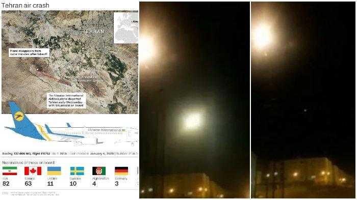 Fakta Dibalik Video Rudal Hantam Pesawat di Iran, yang Tewaskan 176 Orang