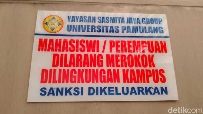 UNPAM Larang Mahasiswi Merokok di Kampus, Tapi Malah Protes