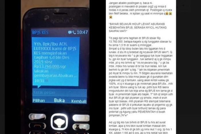 Viral SMS Tunggakan BPJS Rp 13 Juta Ini Penjelasan BPJS Kesehatan