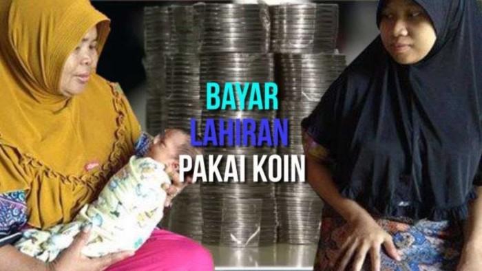 Kisah Pilu, Pasangan ini Bayar Biaya Lahiran Anak Pakai Uang Koin
