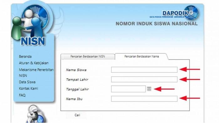 Cek NISN Siswa Online Seluruh Tingkatan