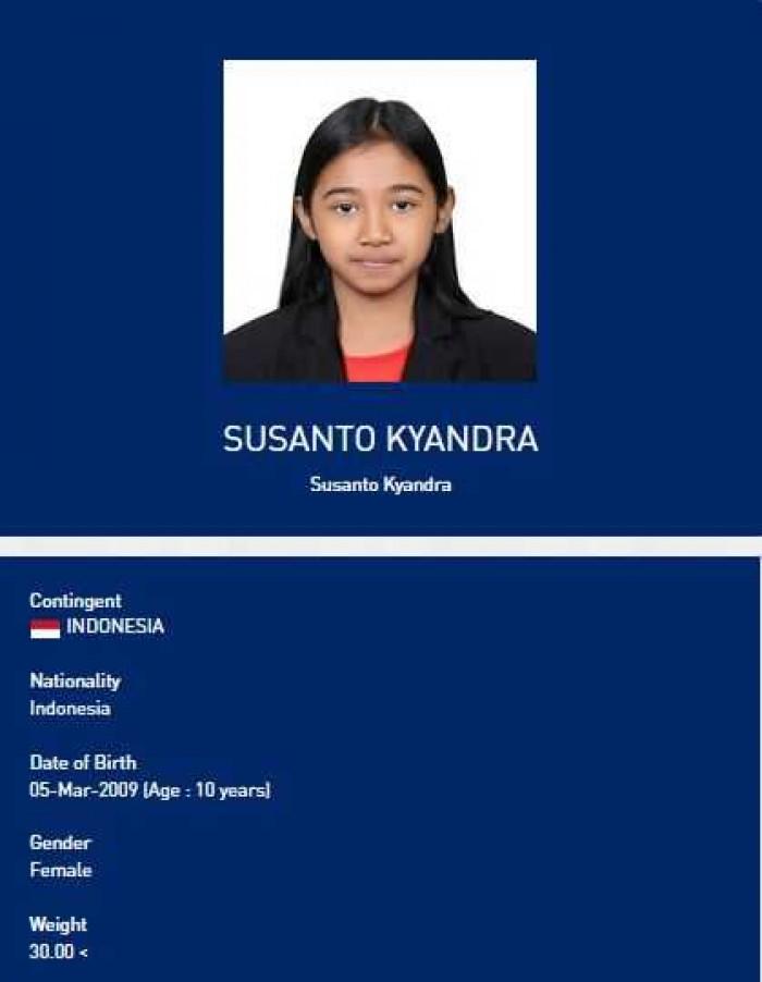 Kyandra Susanto Atlet Termuda Indonesia Raih Medali SEA Games 2019